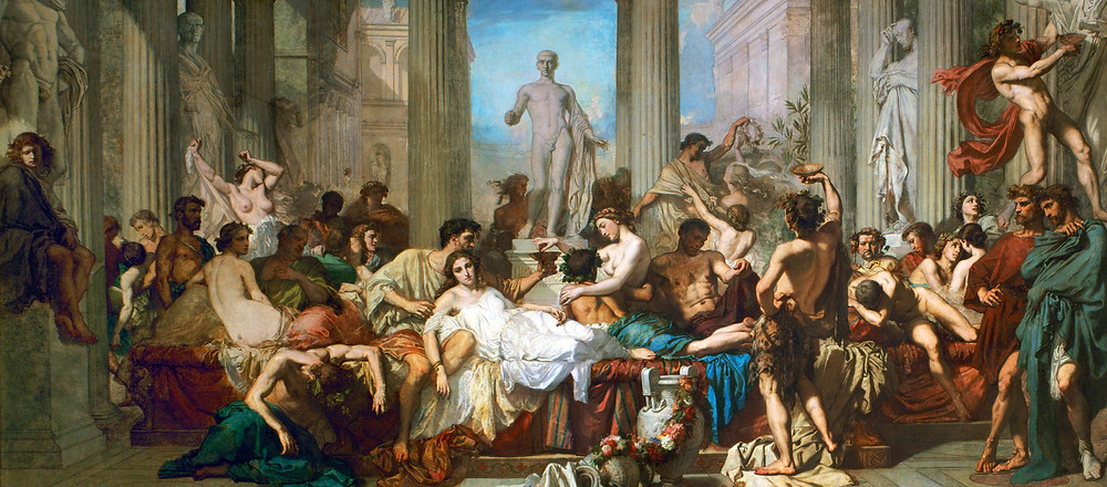 The Decadence of the Romans, Thomas Couture