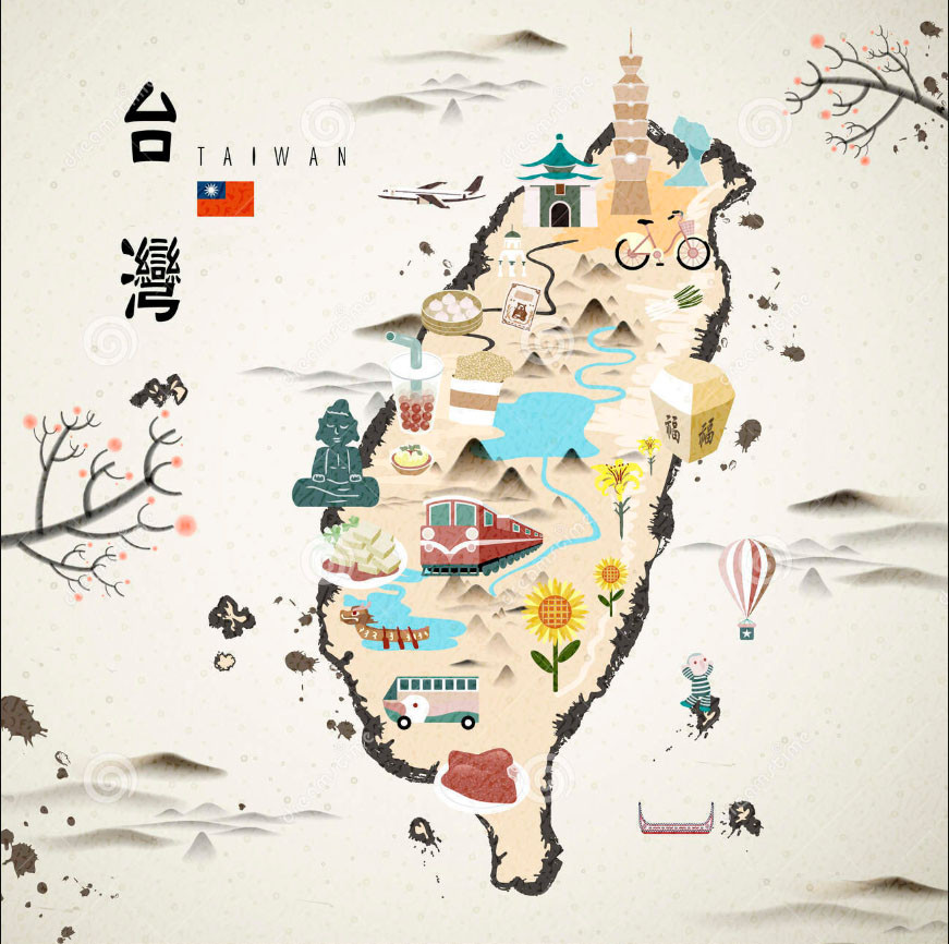Taiwan Map Beautiful Taiwan
