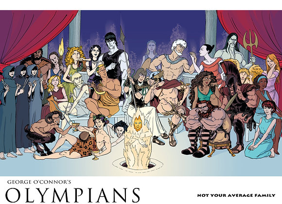 OLYMPIANS POSTER: Not Your Average Family