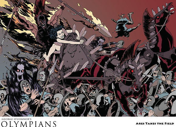 OLYMPIANS POSTER: Ares Takes the Field