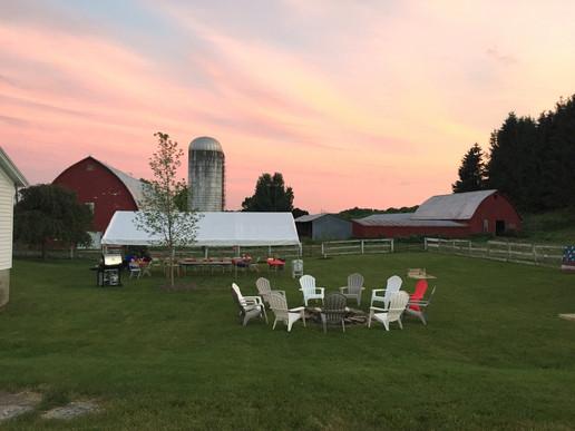 Farmhouse Backyard