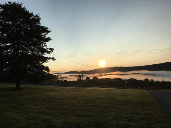 Morning Sunrise Over the Chenango Valley