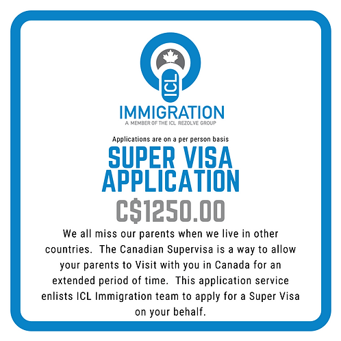 Super Visa Application (per person)