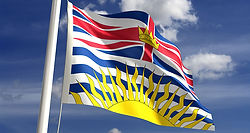 British Columbia waving flag
