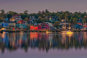 Colourful Village in Nova Scotia