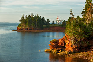 Coastal lighthouse on Prince Edward Island