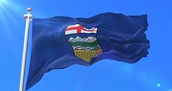Alberta waving flag