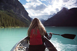 Boating in an Alberta Lake