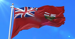 Manitoba waving flag