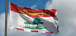 Prince Edward Island waving flag