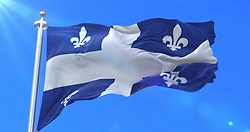 Quebec waving flag