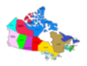 A large map of the Canadian Provinces