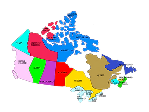 Canadian Provinces Map Small