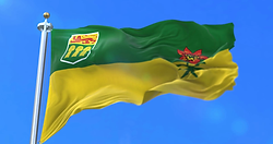 Saskatchewan waving flag