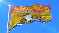 NEW BRUNSWICK waving flag