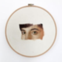 Nakış, işleme, embrodery, hiperrealizm, hyperrealist, portre, resim