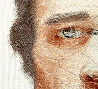 murat yıldız, nakış, işleme, embrodery, hiperrealizm, hyperrealist, portre, resim, abstract embrodery, otoportre, portrait