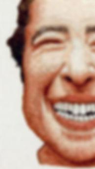 murat yıldız, nakış, işleme, embrodery, hiperrealizm, hyperrealist, portre, resim, gülümseme, smile