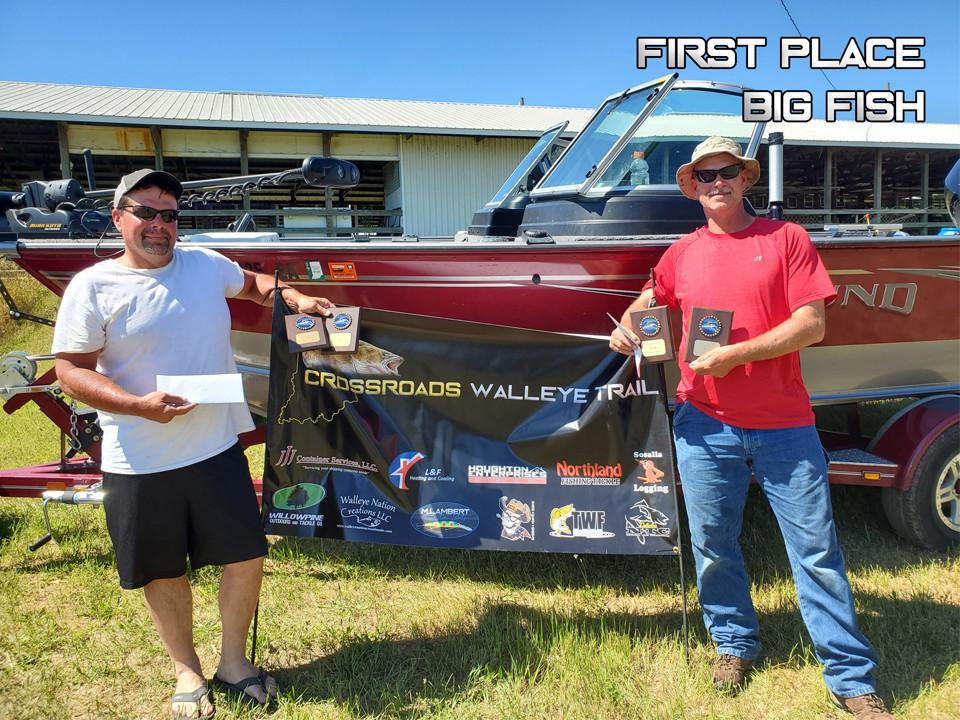 1st Place & Big Fish - Rick Mofield & Rusty Thompson
