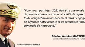01 janvier 2021 - Message du Général MARTINEZ