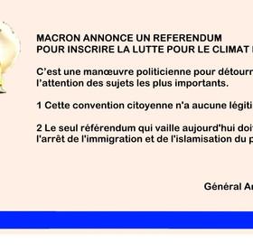 Macron annonce un referendum sur le climat
