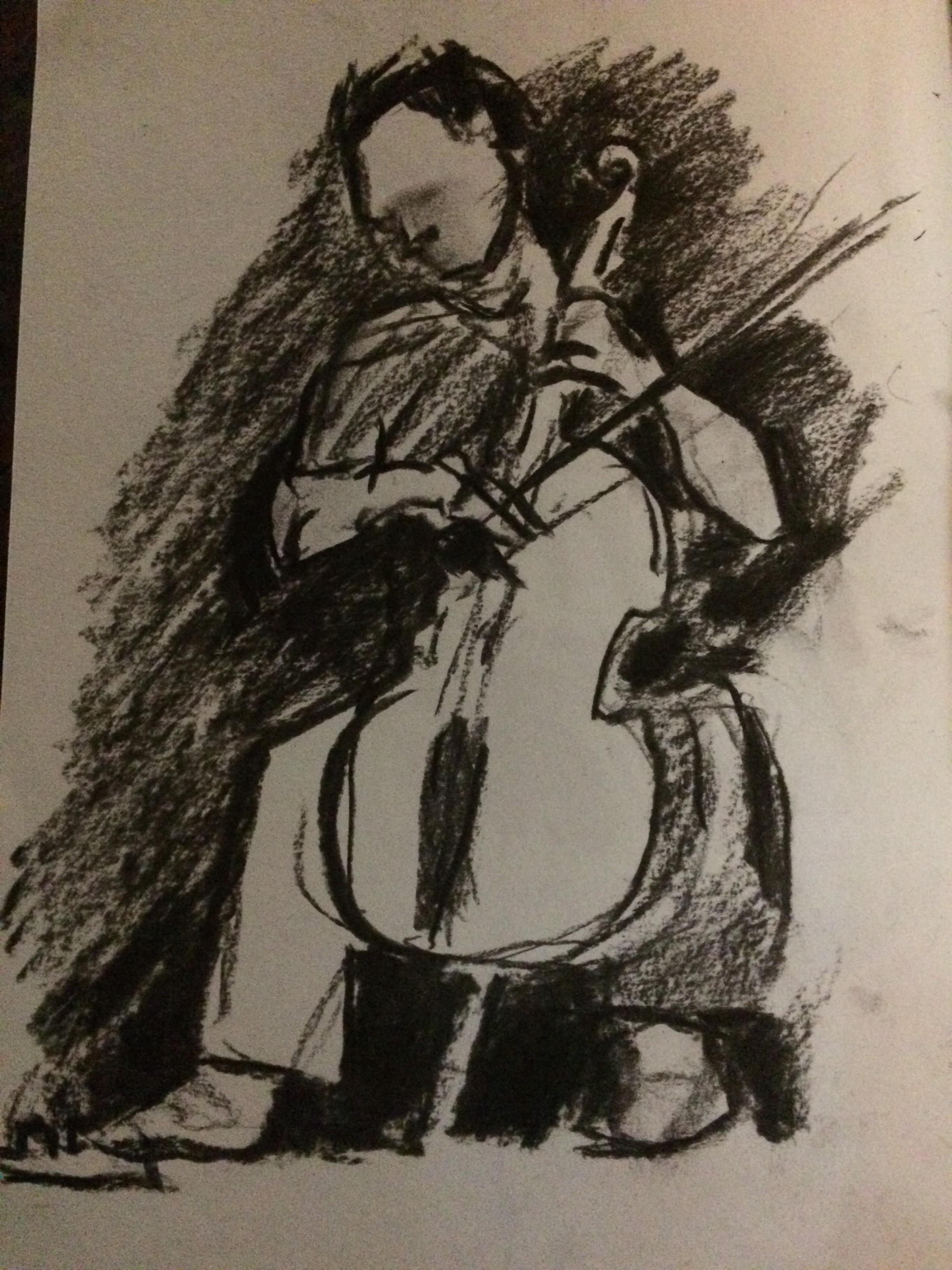 Portrait with cello.