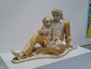 COVID-19 Lockdown Item 25 - Jeff Koons - Michael Jackson and Bubbles Sculpture at the Broad Museum
