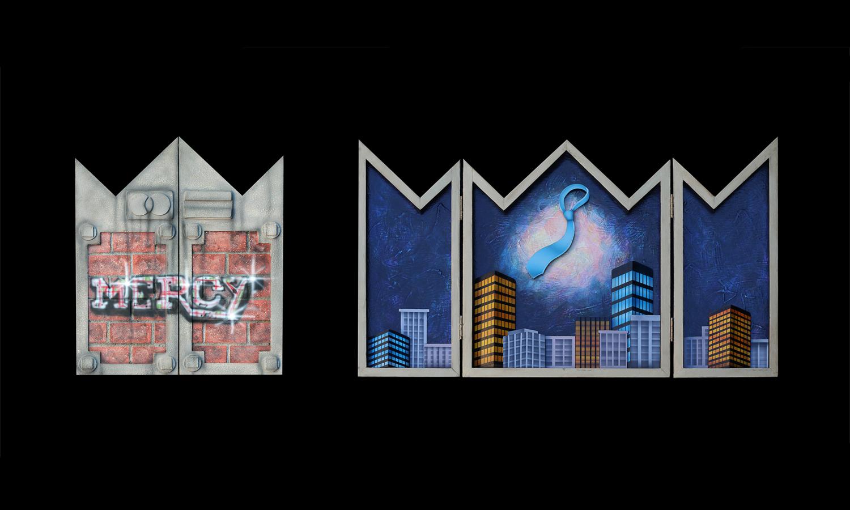 Urban altarpiece: Scarred Legacy