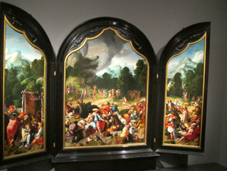 COVID-19 Lockdown - Museum Item 1-Triptych with the Dance around the Golden Calf