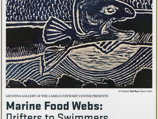 Marine Food Webs: Drifters to Swimmers Exhibition at Oregon state University