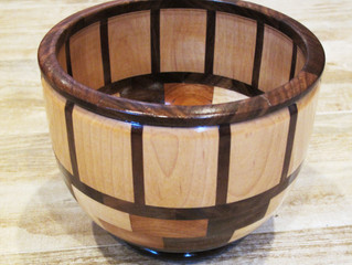 Segmented Bowl on the Lathe