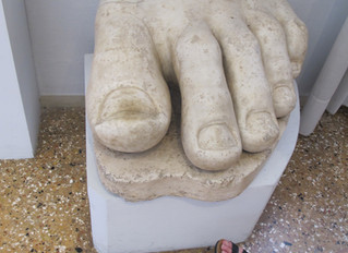COVID-19 Lockdown Museum Item 24 -  Really Big Toes at the Gallerie Dell'Accademia in Venice
