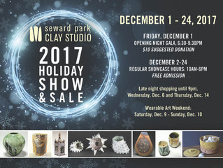 Support Your Local Potters - Seward Park Holiday Sale 2017