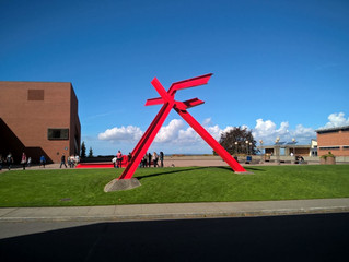 COVID-19 Lockdown Museum Item 19 - For Handel Sculpture  by Mark di Suvero, Western Washington