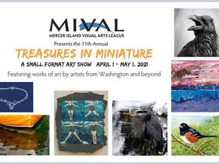 TIM - Treasures in Miniature at the Mercer Island Visual Arts League Gallery