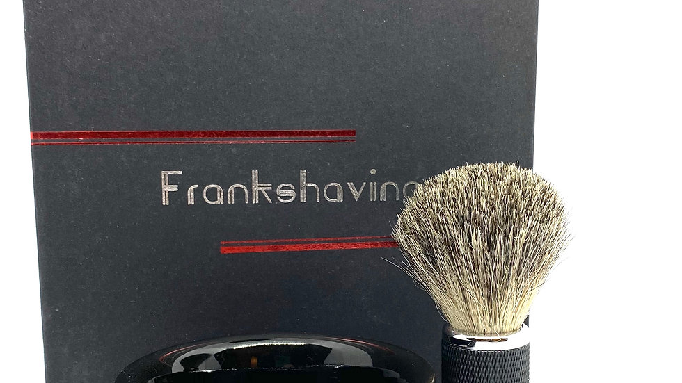 Frank Shaving Luxury Shave Brush & Bowl