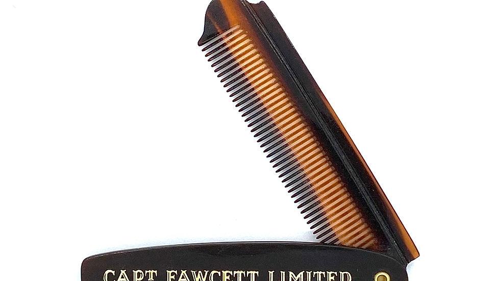 Captain Fawcett Folding Beard Comb