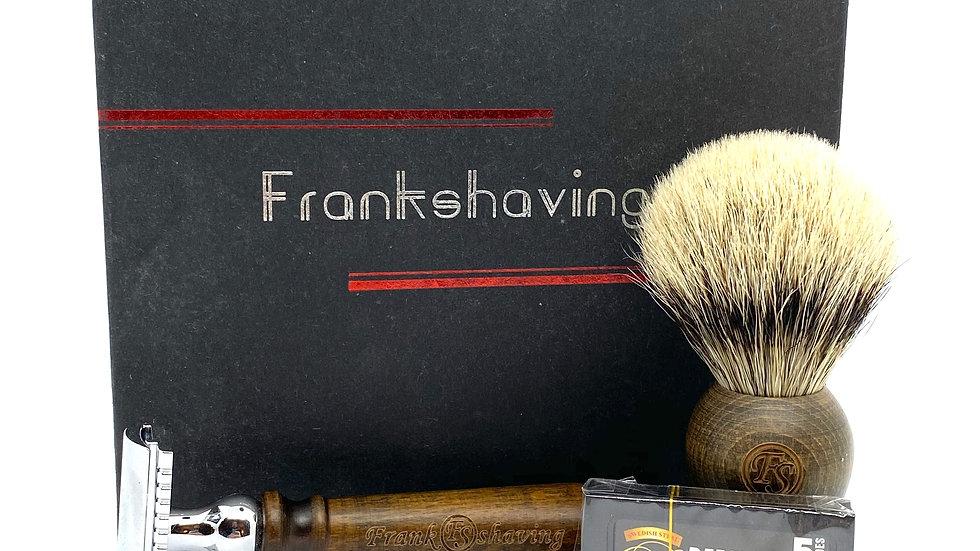 Frank Shaving Luxury Wooden Handle Shave Set