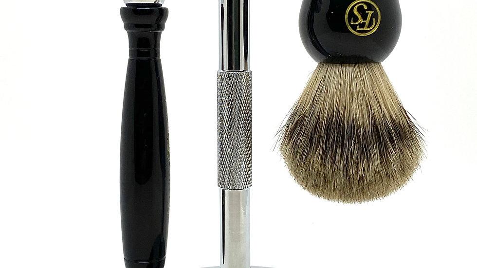 Frank Shaving 3 Piece Shave Set Black