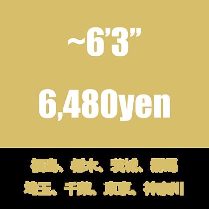 """~6'3"""" 送料 福島/栃木/茨城/群馬/埼玉/千葉/東京/神奈川"""