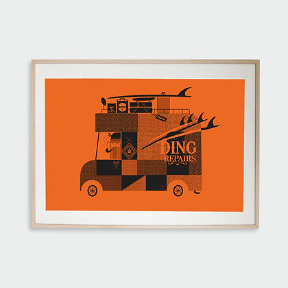 Ding Repairs Poster by Adrian Knott