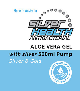 Aloe Vera Gel with Silver and Gold 500ml