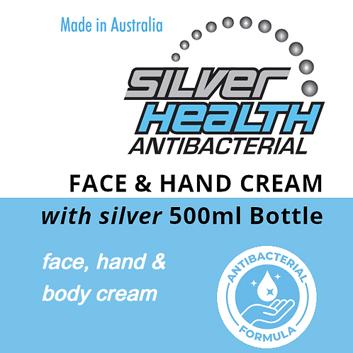 Face, Hand and Body Cream with Silver 500ml