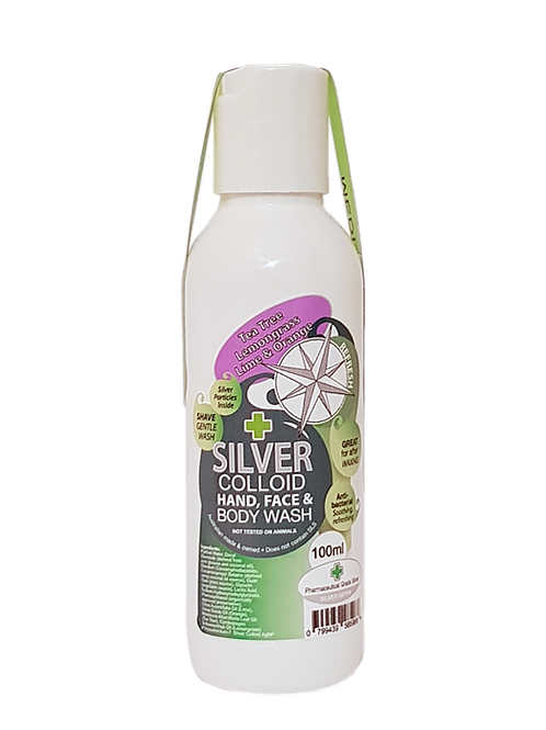 Tea Tree, Lemongrass, Lime & Orange - Face and Body Wash with Silver 100ml