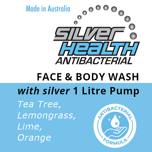 Tea Tree, Lemongrass, Lime & Orange - Face and Body Wash with Silver 1lt