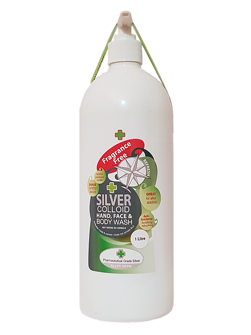 Fragrance Free Face and Body Wash with Silver 1lt