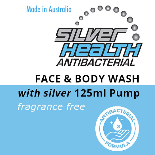 Fragrance Free Face and Body Wash with Silver 125ml