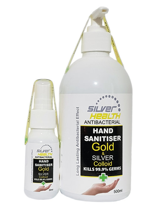 Hand Sanitiser Silver & Gold 500ml & 50ml combo pack