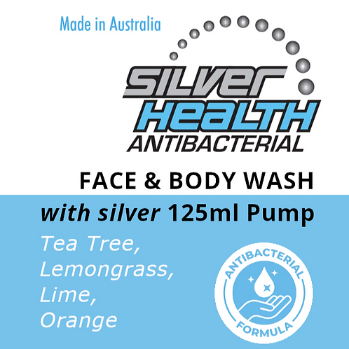 Tea Tree, Lemongrass, Lime & Orange - Face and Body Wash with Silver 125ml