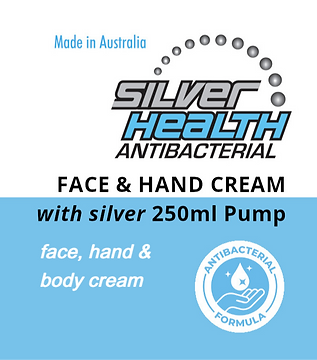 Face, Hand and Body Cream with Silver 250ml